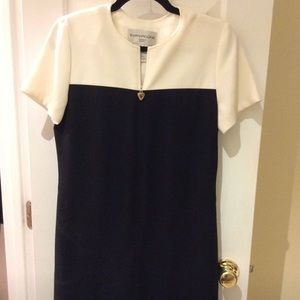 Black and white work dress, Evan Picone, size 6P